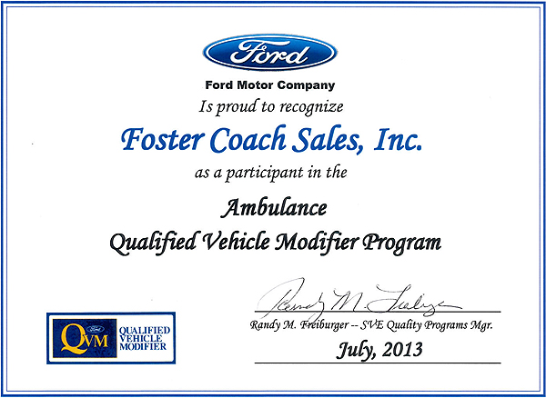 Ford QVM Certification