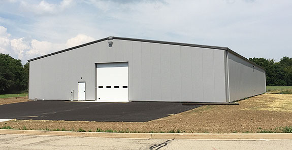 The new Foster Coach Storage Facility Exterior