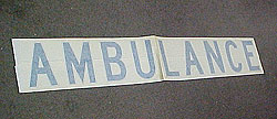 6 ft. Ambulance Decal